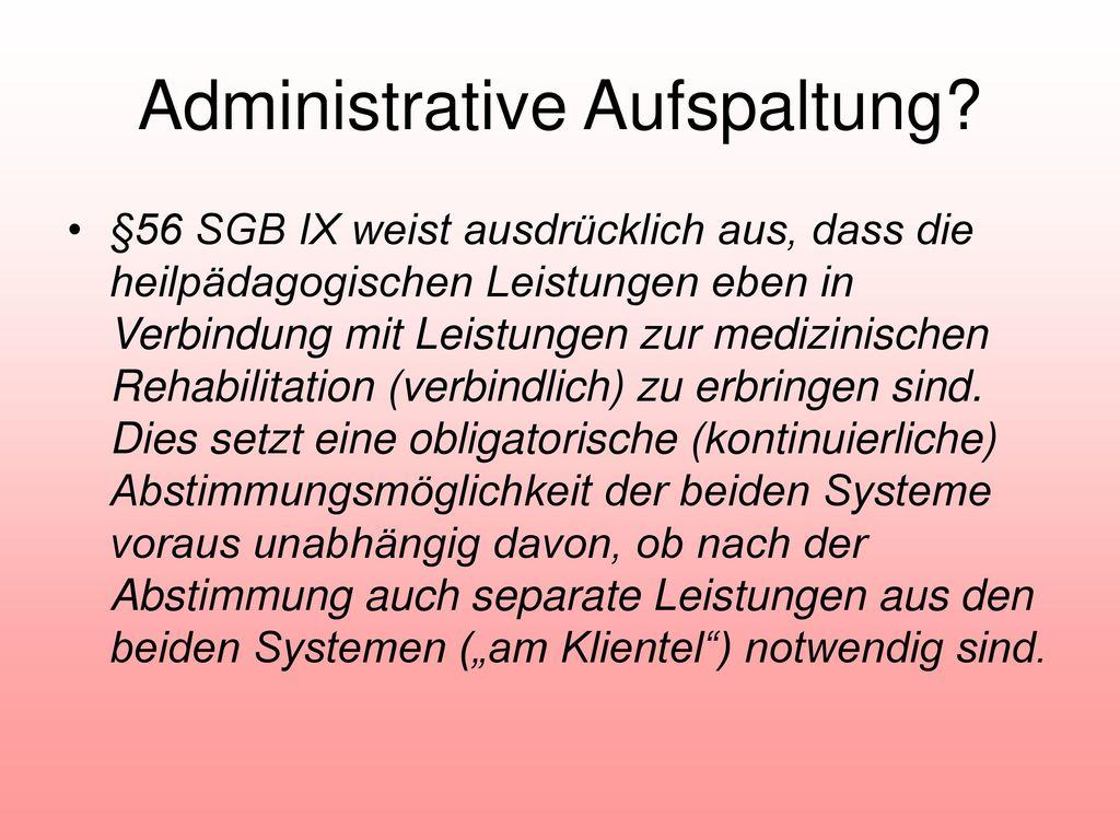 Administrative Aufspaltung