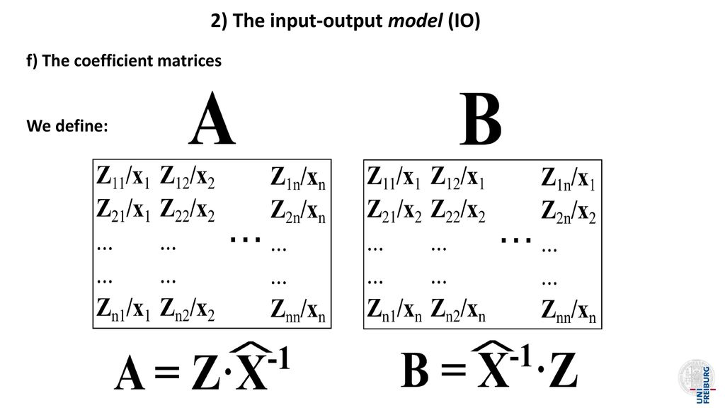 2) The input-output model (IO)