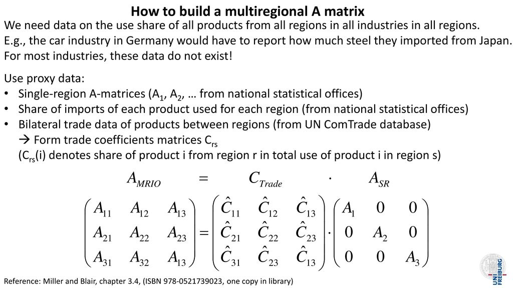How to build a multiregional A matrix