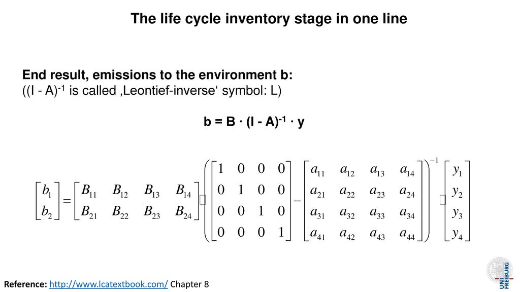 The life cycle inventory stage in one line