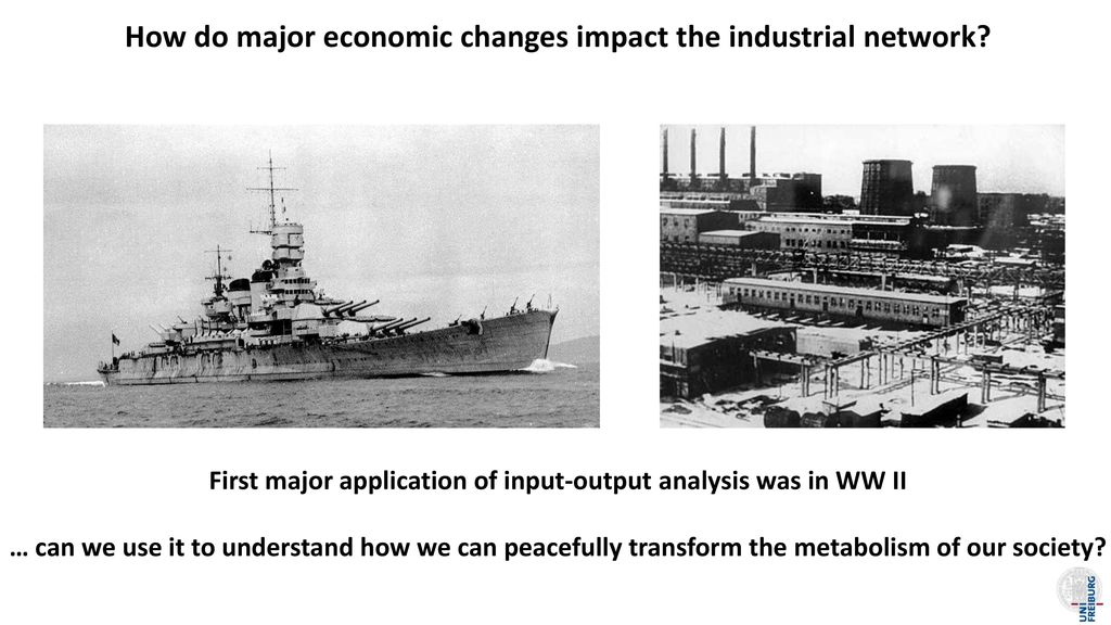 How do major economic changes impact the industrial network