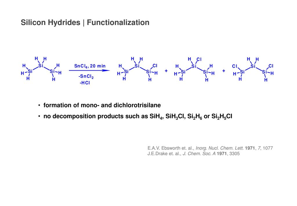 Silicon Hydrides | Functionalization