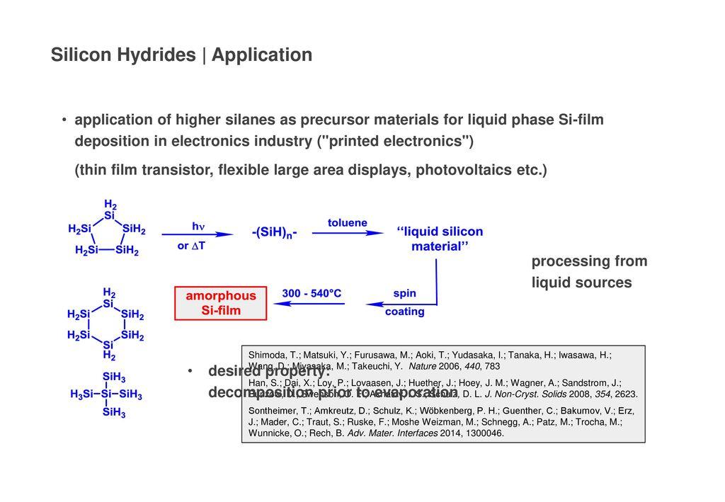 Silicon Hydrides | Application