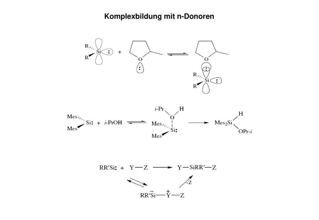 Komplexbildung mit n-Donoren
