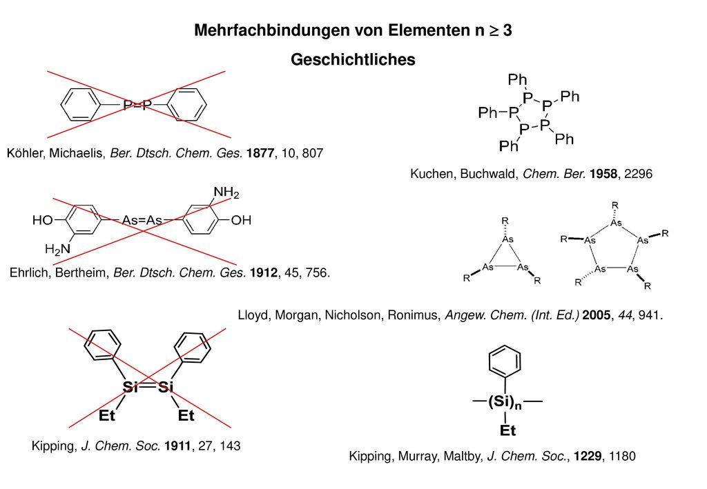 Mehrfachbindungen von Elementen n  3