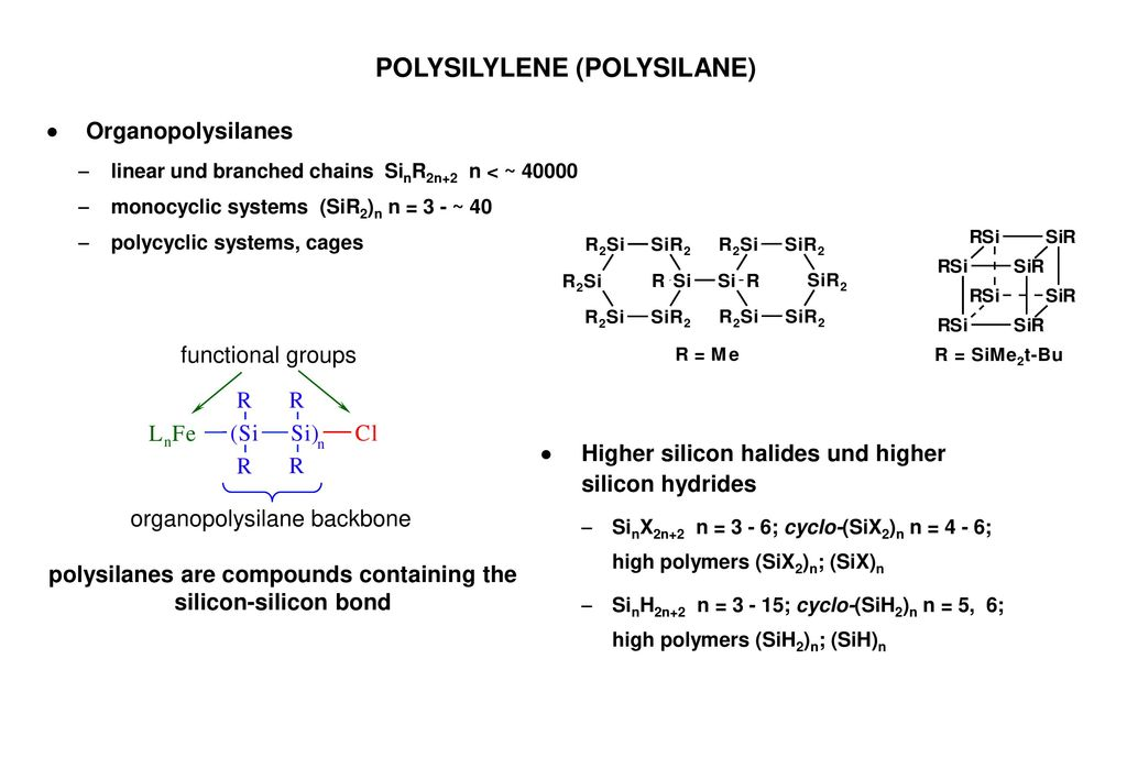 POLYSILYLENE (POLYSILANE)