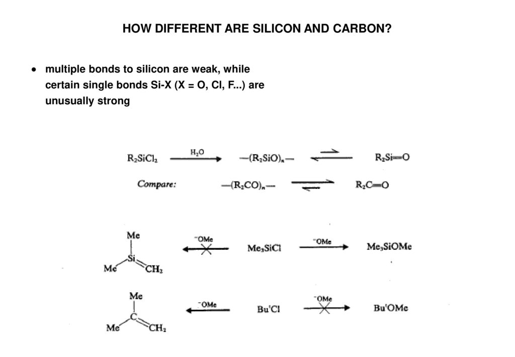 HOW DIFFERENT ARE SILICON AND CARBON