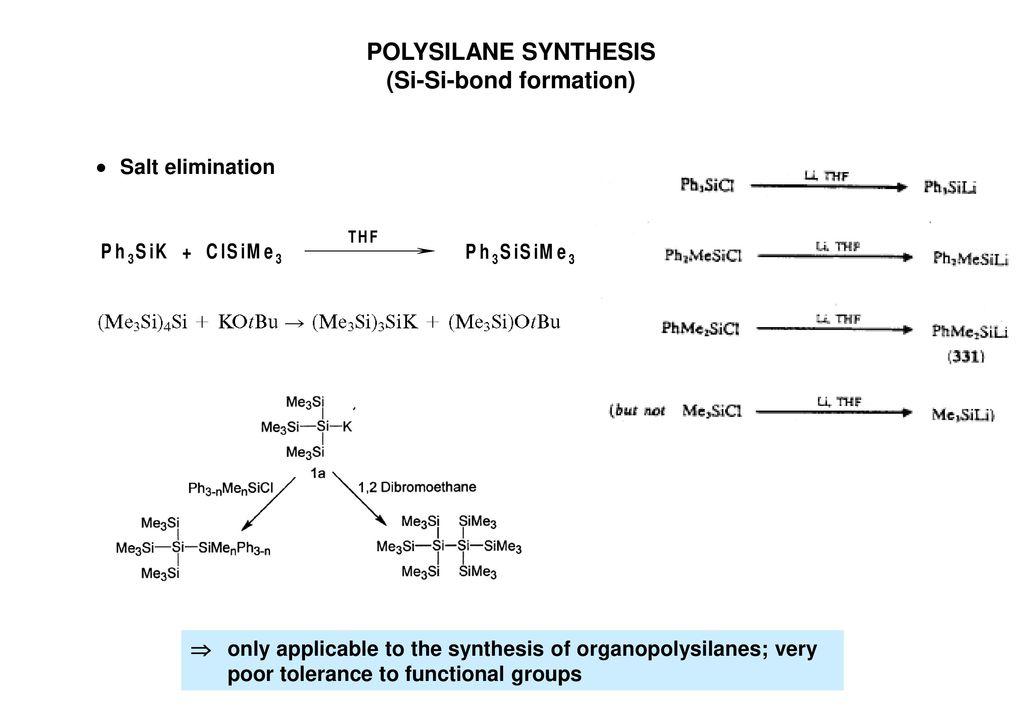 (Si-Si-bond formation)