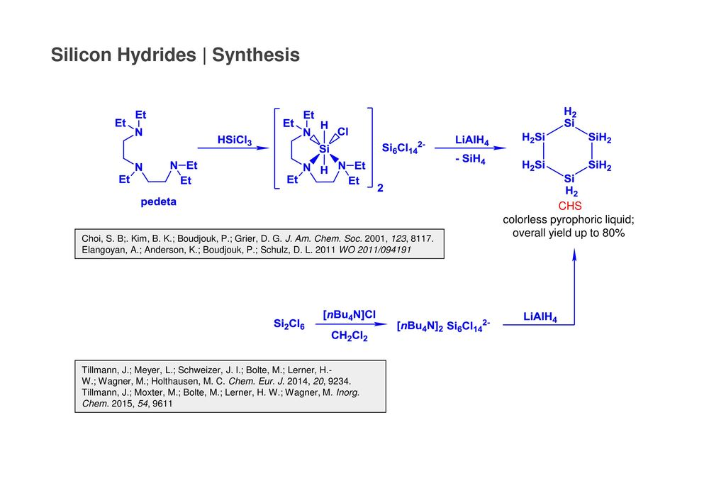 colorless pyrophoric liquid; overall yield up to 80%