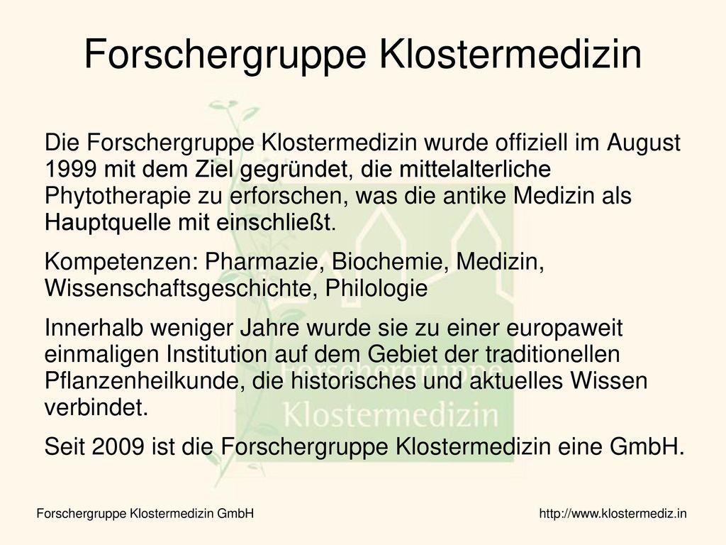 Forschergruppe Klostermedizin