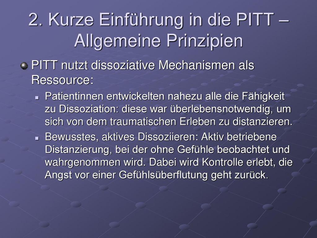 2. Kurze Einführung in die PITT – Allgemeine Prinzipien