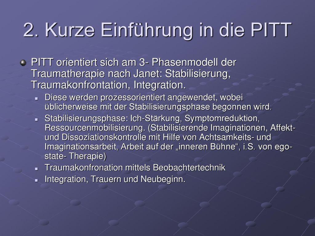 2. Kurze Einführung in die PITT