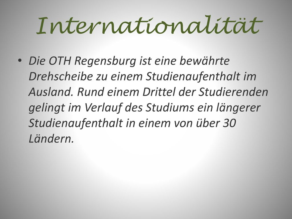 Internationalität