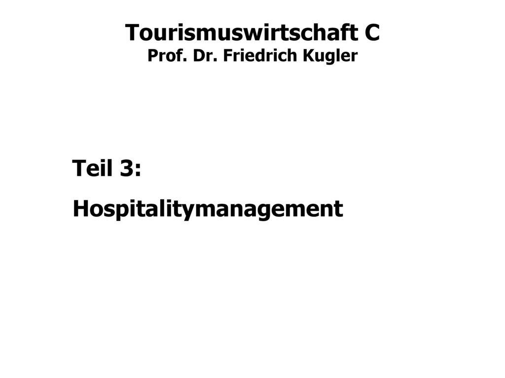 Teil 3: Hospitalitymanagement