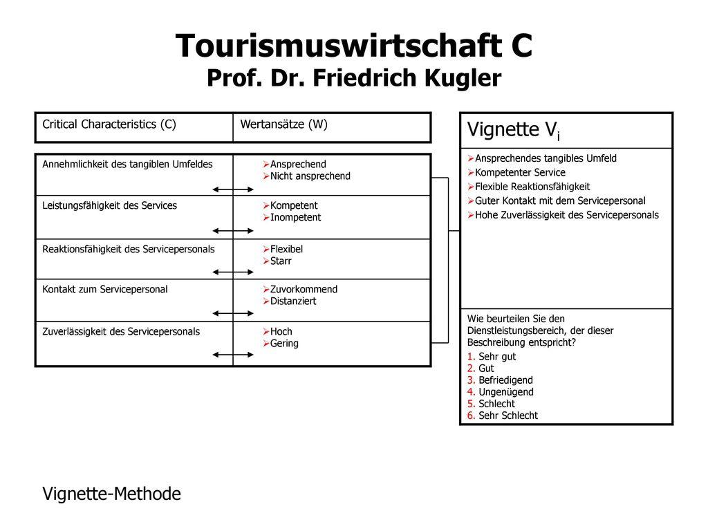 Vignette Vi Vignette-Methode Critical Characteristics (C)
