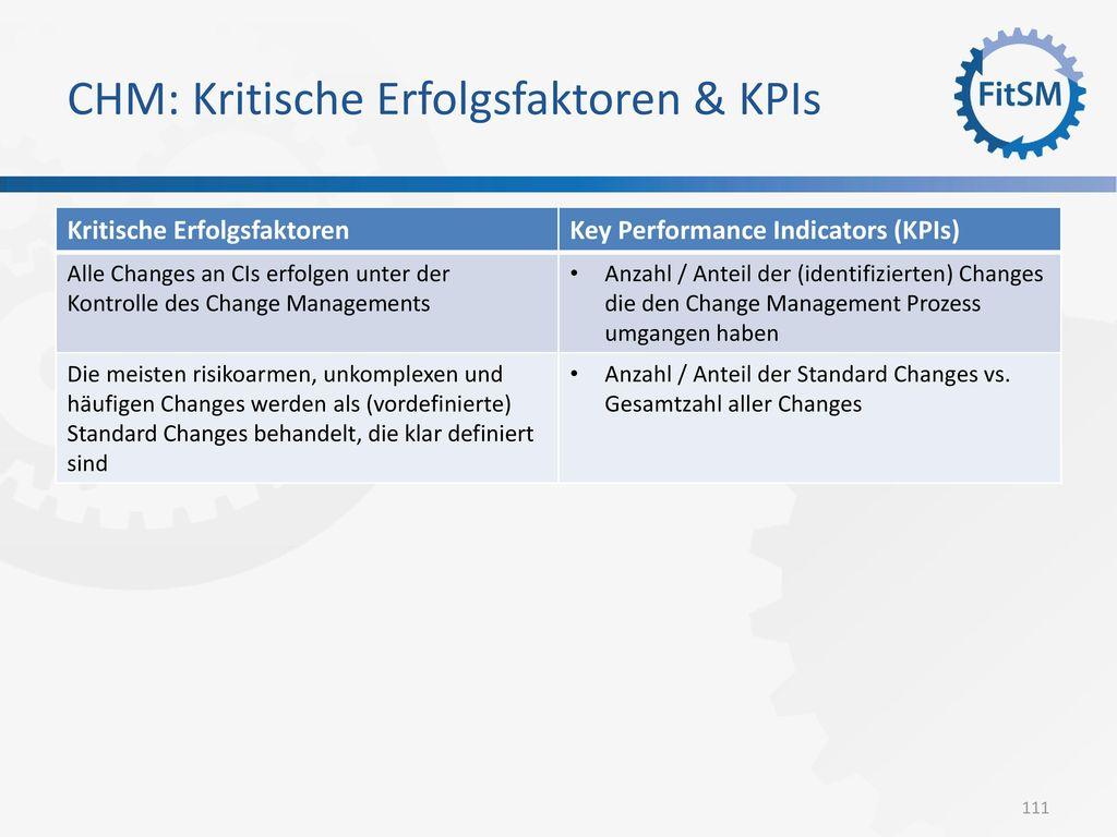 CHM: Kritische Erfolgsfaktoren & KPIs
