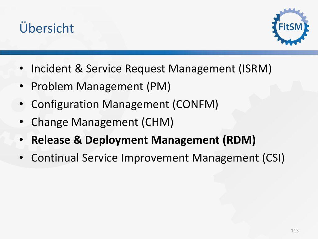 Übersicht Incident & Service Request Management (ISRM)