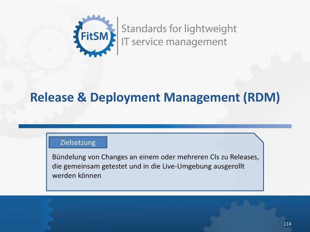Release & Deployment Management (RDM)