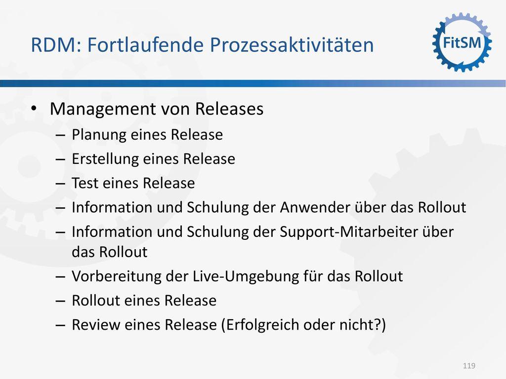 RDM: Fortlaufende Prozessaktivitäten