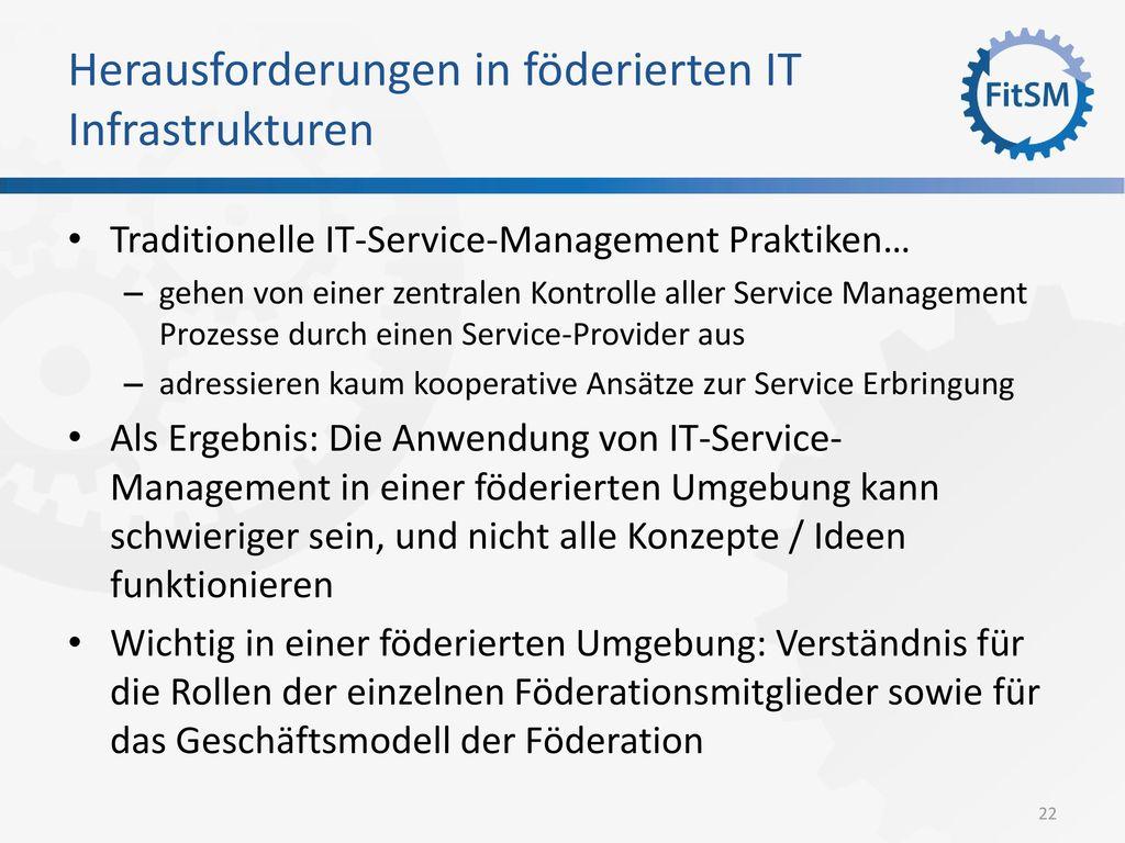 Herausforderungen in föderierten IT Infrastrukturen