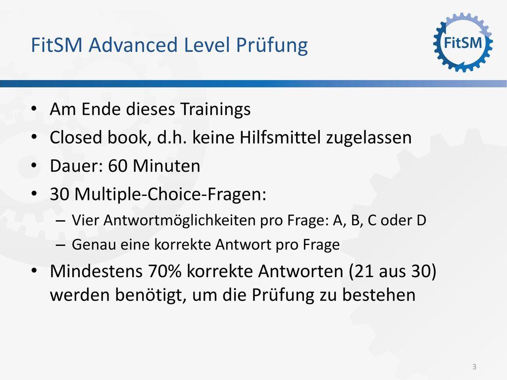 FitSM Advanced Level Prüfung