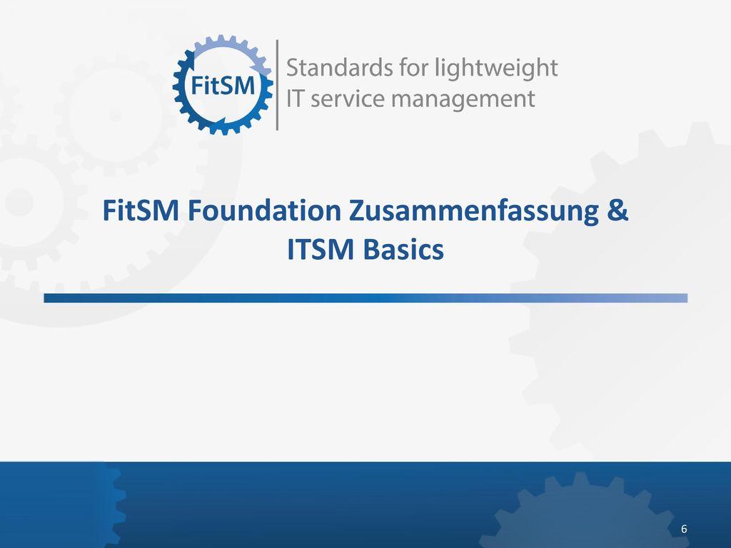 FitSM Foundation Zusammenfassung & ITSM Basics