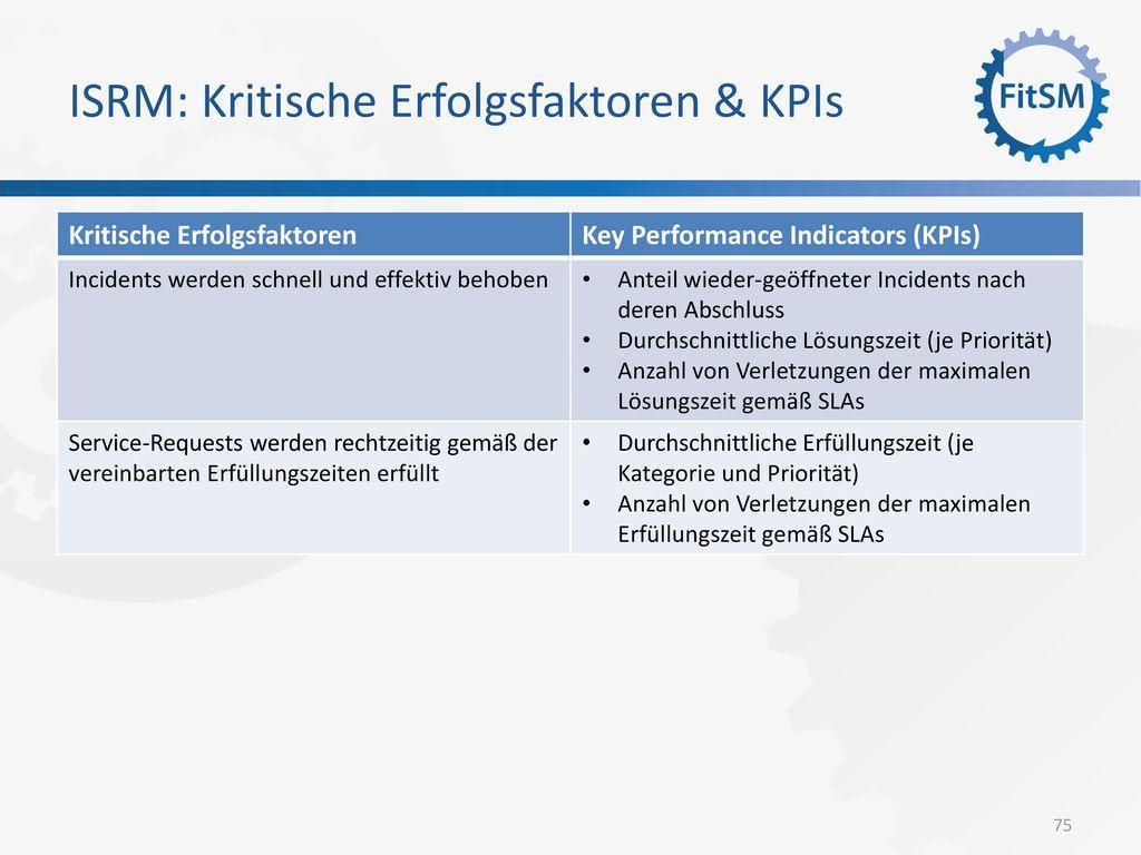 ISRM: Kritische Erfolgsfaktoren & KPIs