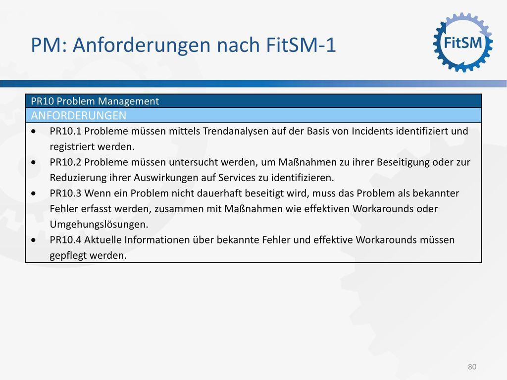PM: Anforderungen nach FitSM-1
