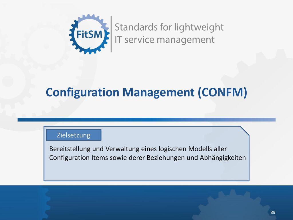 Configuration Management (CONFM)