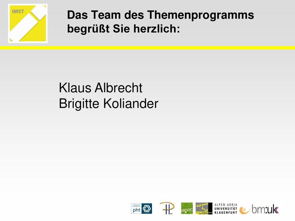 Das Team des Themenprogramms begrüßt Sie herzlich: