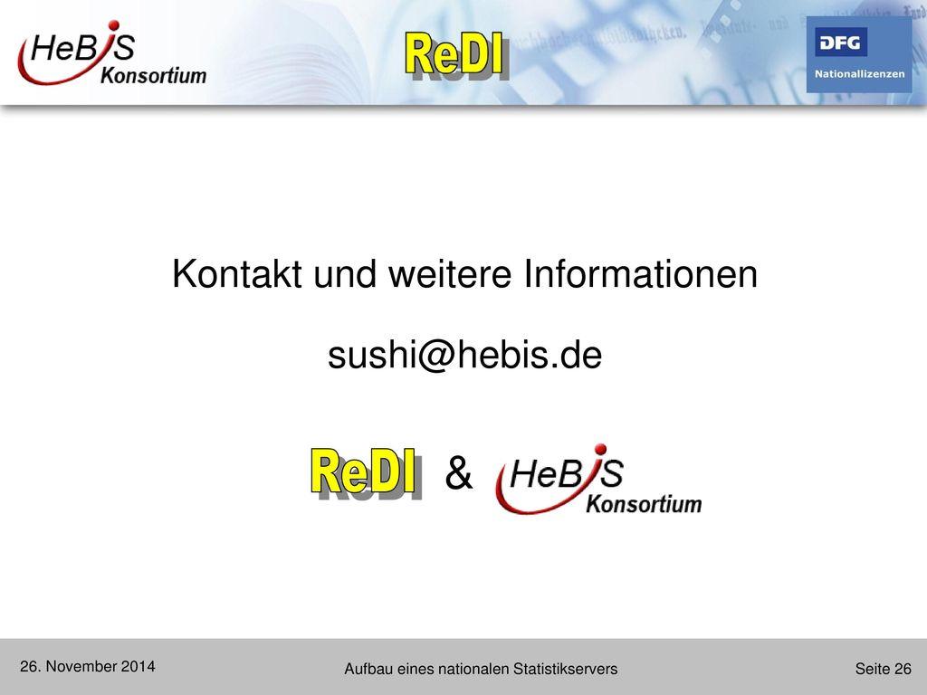Kontakt und weitere Informationen sushi@hebis.de