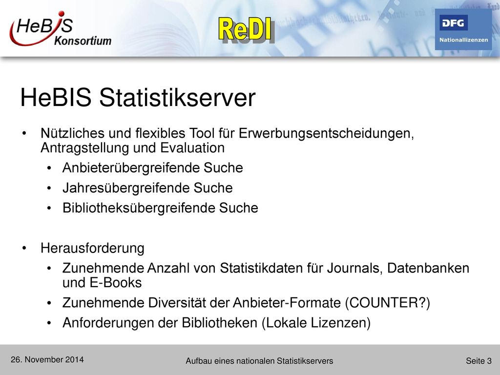 HeBIS Statistikserver
