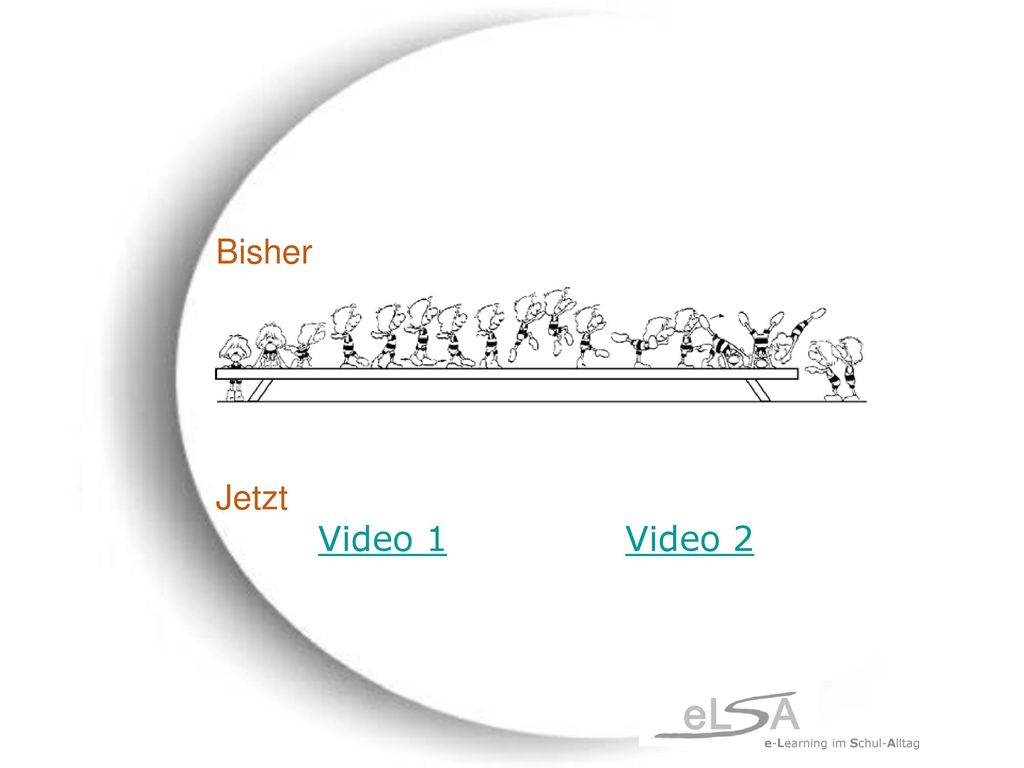 Bisher Jetzt Video 1 Video 2 e-Learning im Schul-Alltag