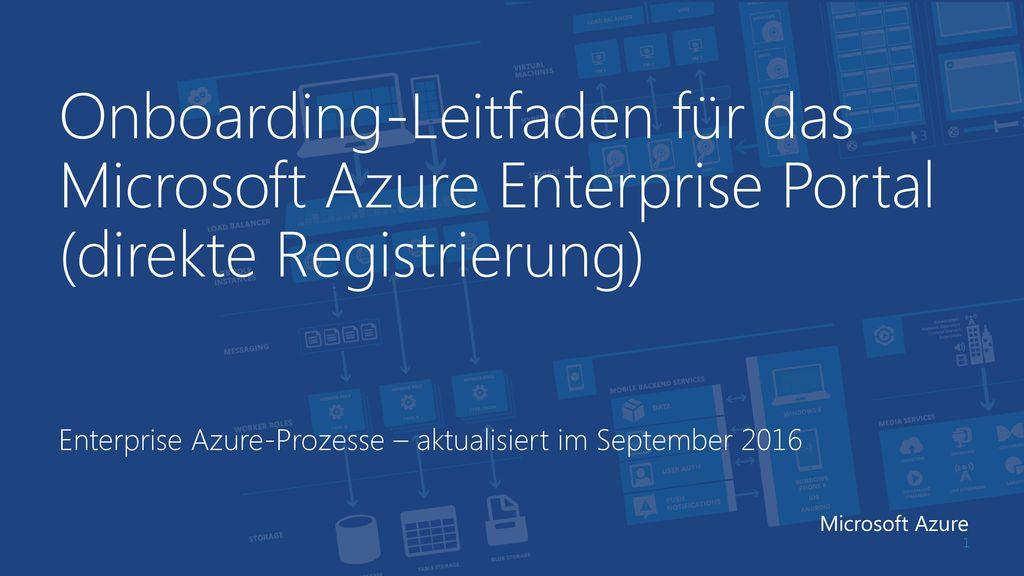 Enterprise Azure-Prozesse – aktualisiert im September 2016