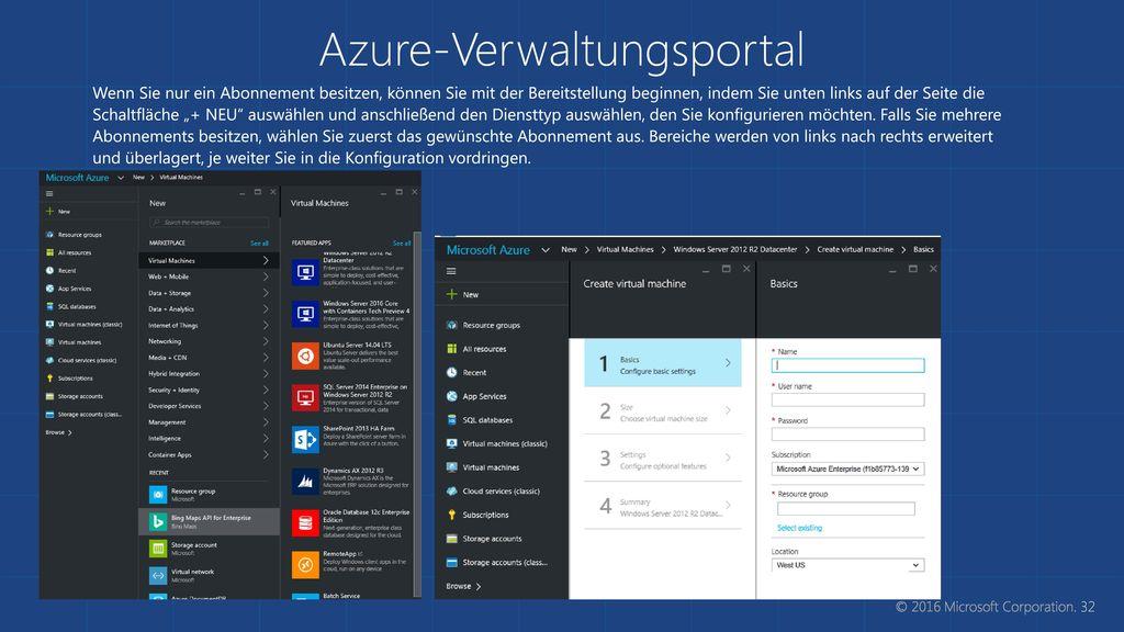 Azure-Verwaltungsportal