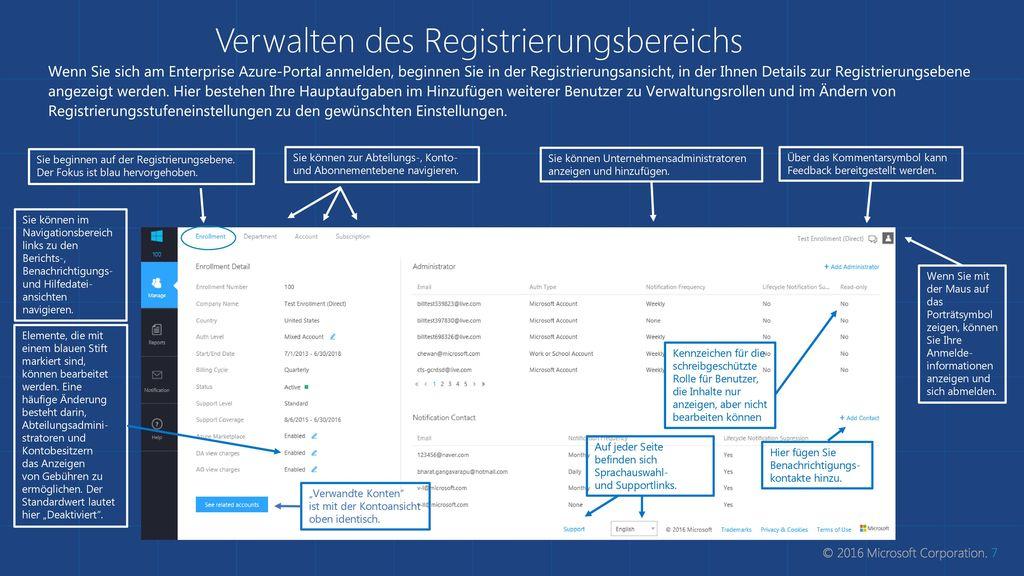 Verwalten des Registrierungsbereichs