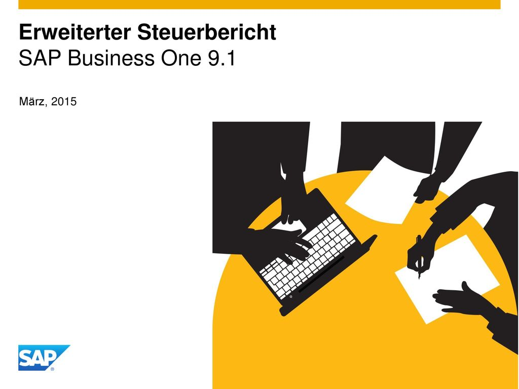 Erweiterter Steuerbericht SAP Business One 9.1