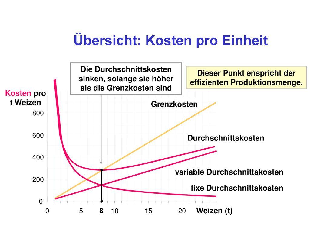 Grenzkosten einer Einheit Output