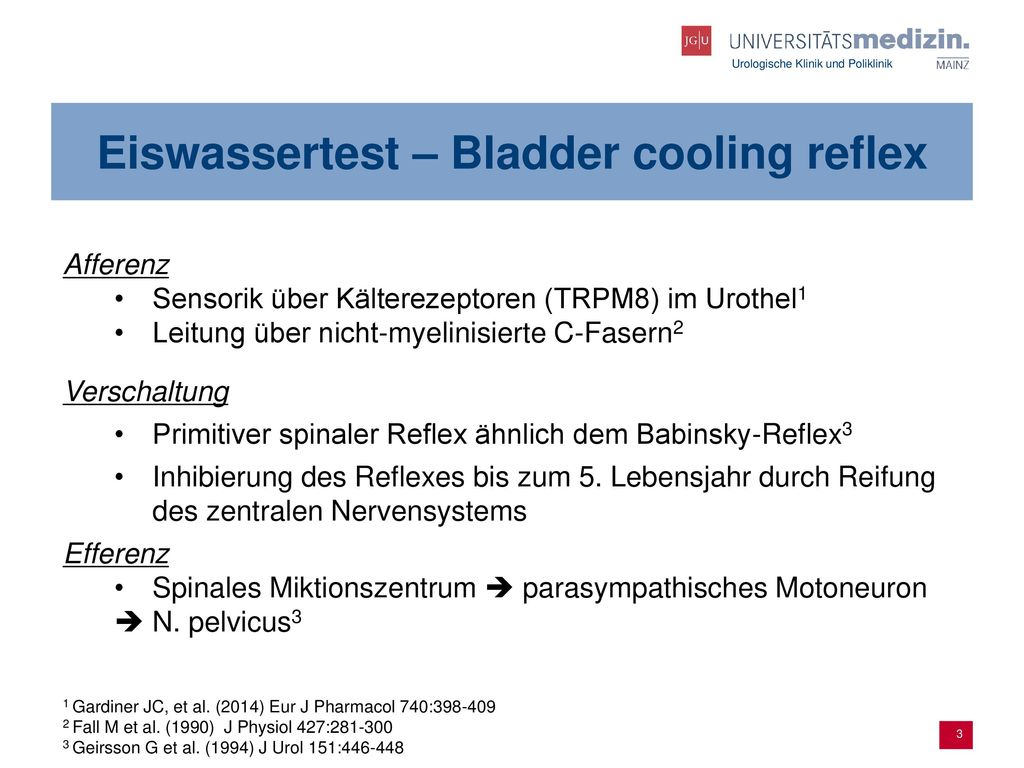 Eiswassertest – Bladder cooling reflex