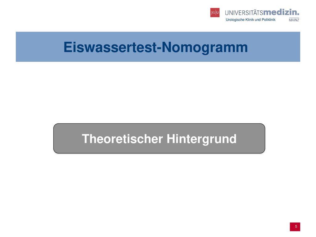 Eiswassertest-Nomogramm