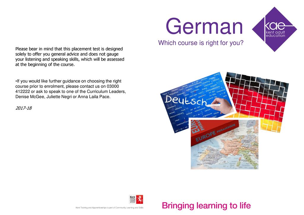 German Which course is right for you