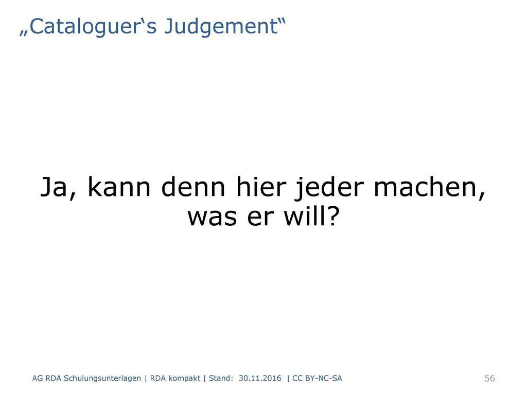"""Cataloguer's Judgement"