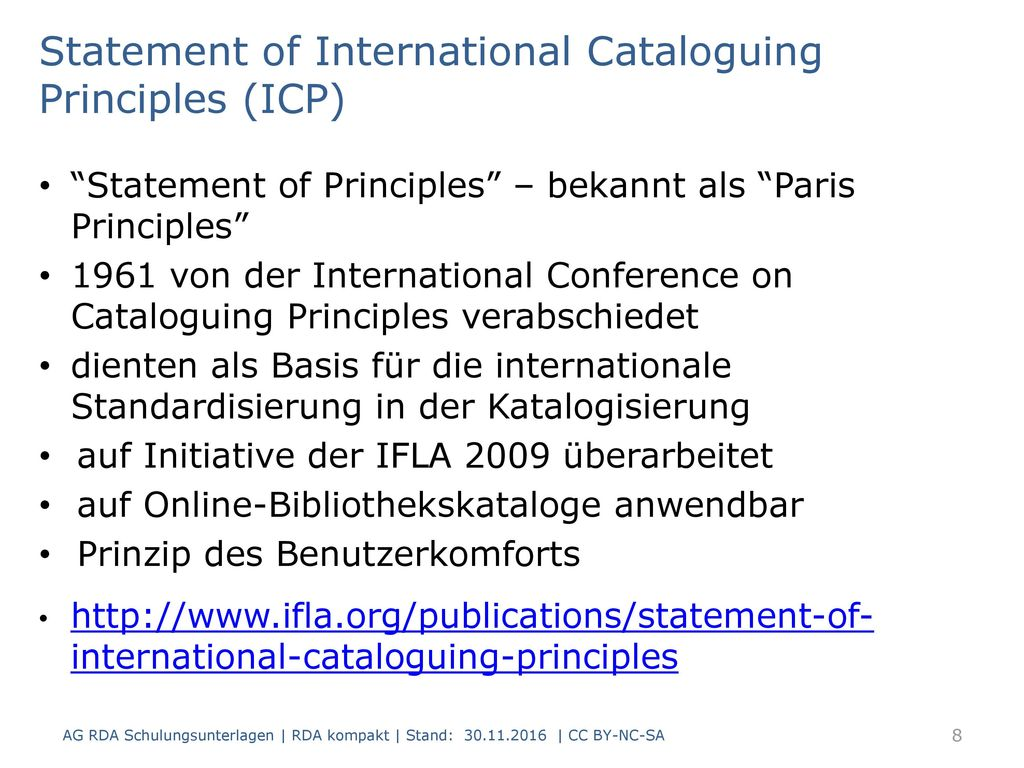 Statement of International Cataloguing Principles (ICP)