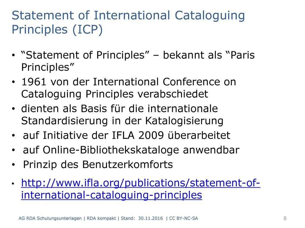 Statement of International Cataloguing Principles (ICP)