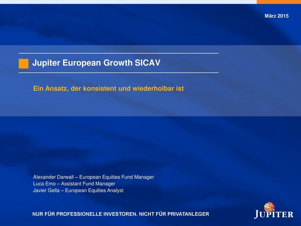 Fondsmanager-Profil und Jupiter-Team