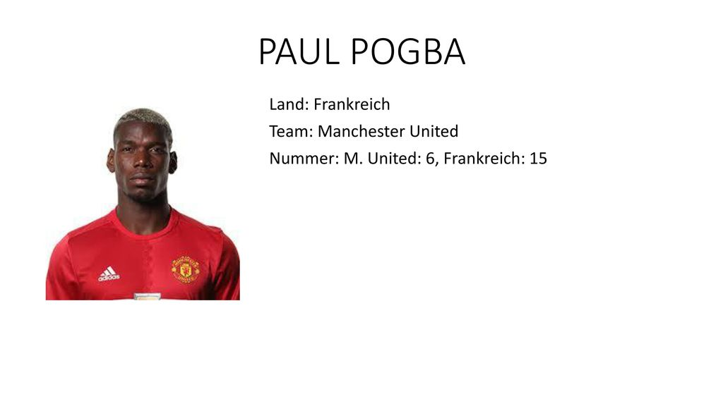 PAUL POGBA Land: Frankreich Team: Manchester United