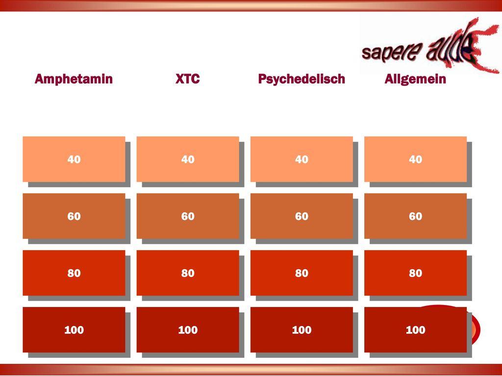 Amphetamin XTC Psychedelisch Allgemein
