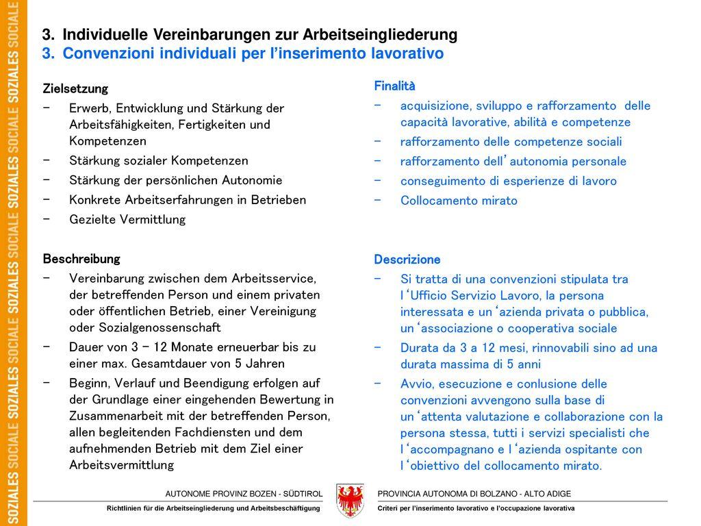 3. Individuelle Vereinbarungen zur Arbeitseingliederung 3