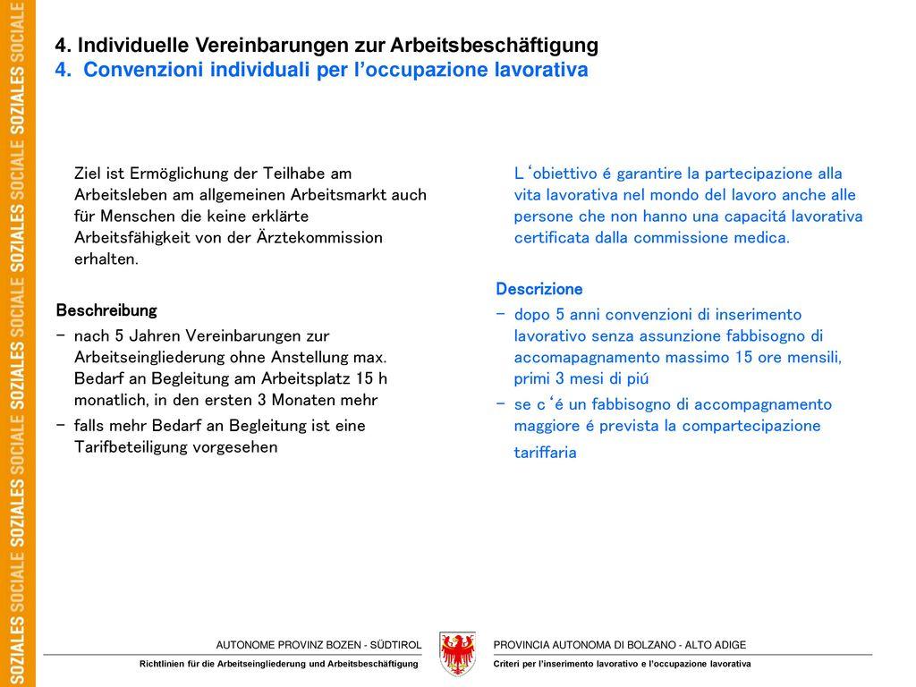 4. Individuelle Vereinbarungen zur Arbeitsbeschäftigung 4