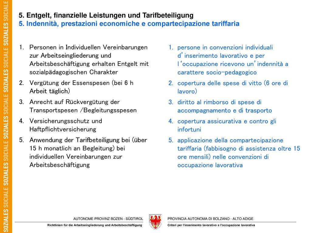 5. Entgelt, finanzielle Leistungen und Tarifbeteiligung 5